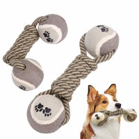 Dumbbell Dog's Chew Teeth Cleaning Training Cotton Rope Toys
