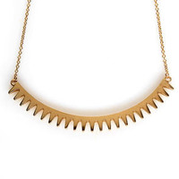 Cog in the Act Gold Necklace