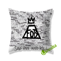 Fall Out Boy Save Rock and Rool Square Pillow Cover