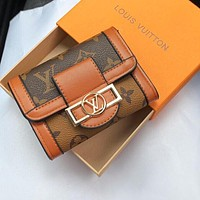 LV retro simple small wallet small card case bag