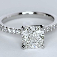 1.20ct Princess Cut Diamond Engagement Ring G-SI2  JEWELFORME BLUE GIA certified
