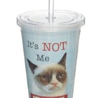"""Grumpy Cat Insulated Tumbler- """" It's Not Me.. It's You"""""""