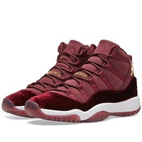 NIKE Air Jordan 11 Retro Heiress Velvet RL GG Ltd Rarity Basketball Trainers Sneaker burgundy/gold/white