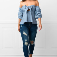 Take A Hint Blouse-RESTOCKED