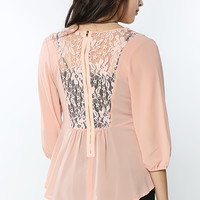 Back-Lacy Dressy Top