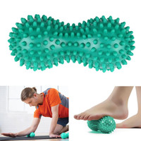 2016 Hot Sale Peanut Shape Spiky Massage Yoga Ball PVC Trigger Point Therapy Stress Relief Massager