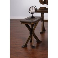 Sunny Designs 3237AC-CS Savannah Chair Side Table In Antique Charcoal
