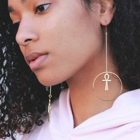 Gift of Life Ankh earrings