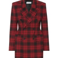 Hourglass checked blazer
