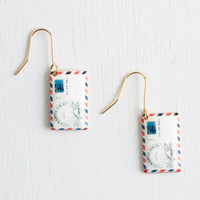 Quirky Postage Do Earrings by ModCloth