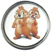Disney Chip 'N Dale Chipmunks 18MM - 20MM Fashion Snap Jewelry Snap Charm