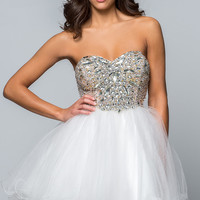 Short Strapless Sweetheart Prom Dress by Terani