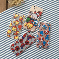 Fundas Coque Phone Cases for iPhone 7 SE 5 5S 6 6S Plus Cover Avengers Ironman Superman Spiderman Captain America TPU Shell