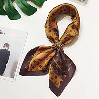 Louis Vuitton LV  Women Kerchief Shawl Silk Scarf