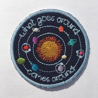 Embroidered Patch: What Goes Around Comes Around, Solar System