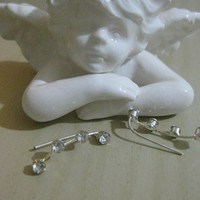 Ear Sweep Wrap - Cuff Earring with Crystal