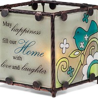May happiness fill our Home with love & laughter Tealight Candle Holder
