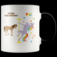 Funny Girlfriend Gift Girlfriend Mug Best Girlfriend Ever Birthday Coffee Cup Pole Dancing Unicorn