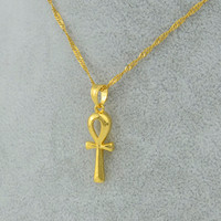 Egyptian Ankh Cross Pendant Chain Necklace
