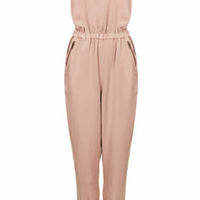 Cross Back Strappy Jumpsuit - Pink