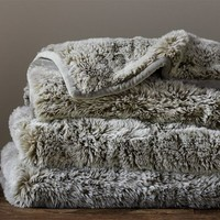 FAUX FUR THROW - LYNX
