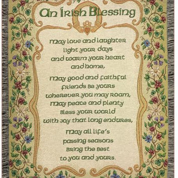Irish Blessing Throw Blanket - Made In The Usa