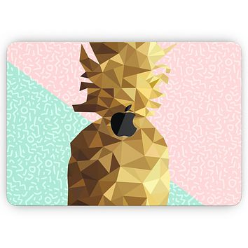 """Geometric Summer Pineapple v1 - Skin Decal Wrap Kit Compatible with the Apple MacBook Pro, Pro with Touch Bar or Air (11"""", 12"""", 13"""", 15"""" & 16"""" - All Versions Available)"""