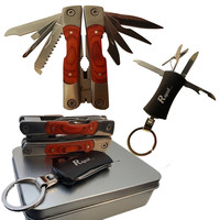 Emergency Survival Pocket Tool Camping Tool with Multi - Tool Keychain - Stainless Steel