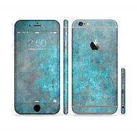 The Grungy Bright Teal Surface Sectioned Skin Series for the Apple iPhone6s Plus