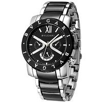 Bvlgari men and women fashion watch quartz watch F Silver + Black Watchband + Black Case