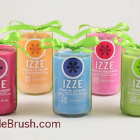 Recycled Izze Soda Pop Soy Candle Blueberry