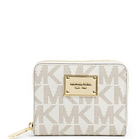 MICHAEL Michael Kors Signature Zip Around Wallet | Dillard's Mobile