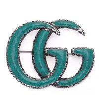 GUCCI New fashion letter couple retro brooch accessories