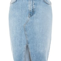 MOTO Denim Midi Skirt | Topshop