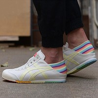 Asics Onitsuka Tiger canvas breathable comfortable flat casual shoes running shoes