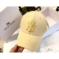 MLB Tide brand new men and women see stereo embroidery high-end baseball cap Khaki