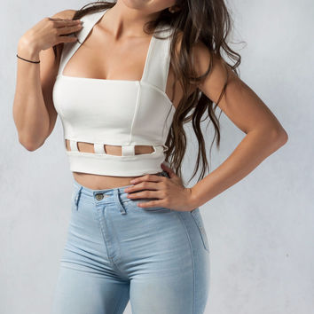 Easy To Match Crop Top - White