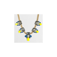 JCrew rystal and stone clusters necklace