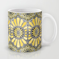 Sunny Yellow Radiant Watercolor Pattern Mug by Micklyn