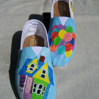 Custom Hand Painted Toms: Disney Pixar's Up Design