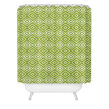 Lisa Argyropoulos Diamonds Are Forever Fern Shower Curtain