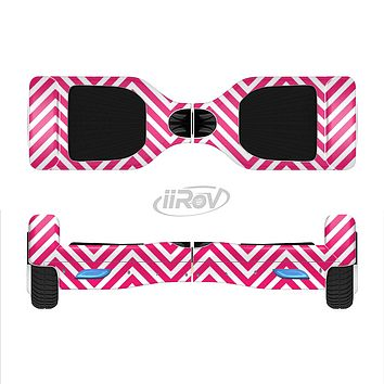 The White & Pink Sharp Chevron Pattern Full-Body Skin Set for the Smart Drifting SuperCharged iiRov HoverBoard