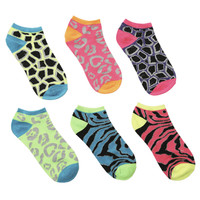 Mixed Metallic 6 Pack Socks  | Shop Accessories at Wet Seal