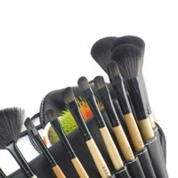 Crazycity Professional Makeup Cosmetic Brush Set Kit with Pouch Bag Case (18pcs)
