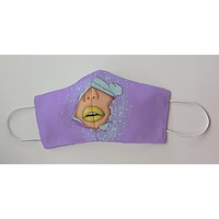 Mermaid Face Purple and Gold Face Decorative Face Mask