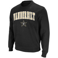 Vanderbilt Commodores Stadium Athletic Arch & Logo Crew Pullover Sweatshirt - Black