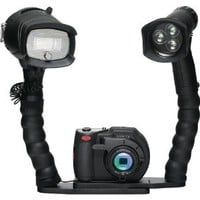 SeaLife DC1400 Pro Video Digital Underwater Camera Duo with LED Light & Flex Arm Brackets Waterproof up to 200 ft. (60m)