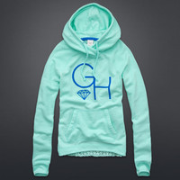 Open-Stitch Back Popover Hoodie