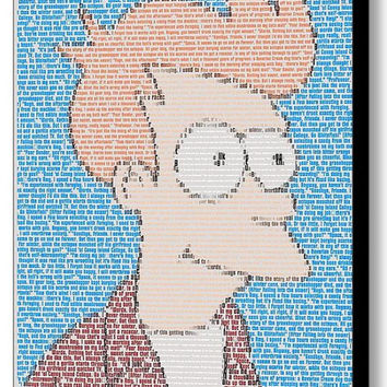 Futurama Philip J Fry Quotes Mosaic INCREDIBLE Framed or unframed Limited Edition Art Print