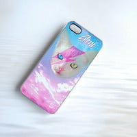 Funky Catsterz David Meowie Monogrammed iPhone Case